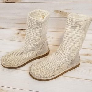 Knit cream Ugg boots size 7